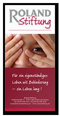 Flyer der Roland-Stiftung zum Download